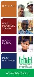 green-brochure-2012 - Institute for Family Health