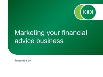 Marketing your financial advice business