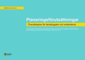 Planeringsförutsättningar - Weblisher