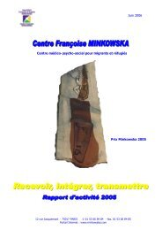 Juin 2006 Prix Minkowska 2005 Centre médico ... - Portail Minkowska