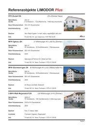 Referenzobjekte LIMODOR Plus - Trivent AG