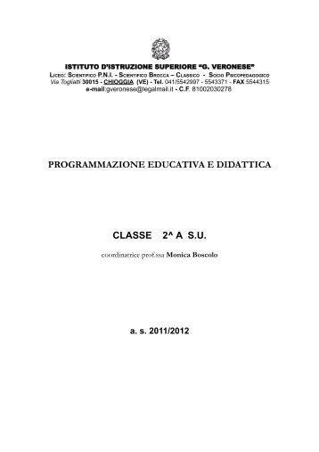 programmazione educativa e didattica classe 2^ a su - G. Veronese
