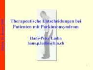 Parkinson - Vereinigung Zuercher Internisten