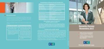 Garantie Europe Novembre 2017 - CIC