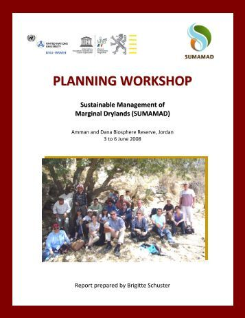 Planning Workshop –Sustainable Management of Marginal - Unesco