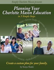 Planning Your Charlotte Mason Education sample - Simply ...