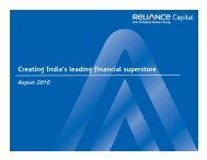 India - Reliance Capital