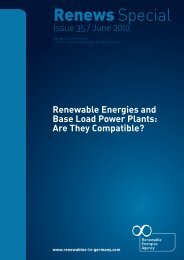 Renewable Energies and Base Load Power Plants