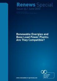 Renewable Energies and Base Load Power Plants
