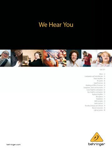 the Behringer Catalog - RAL Audio Services