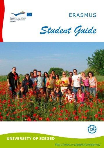 Erasmus Student Guide - Szegedi Tudományegyetem