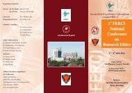 1 FERCI National Conference on Research Ethics - Tata Memorial ...