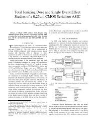 Total Ionizing Dose and Single Event Effect Studies of a 0.25μm ...