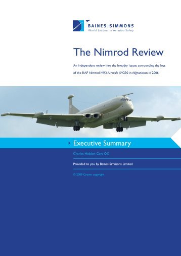 THE NIMROD REVIEW An independent review ... - Baines Simmons