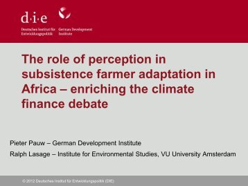 perceptions and complex environments - Conference on Climate ...