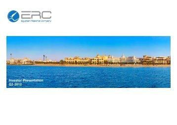 Investor Presentation Q3 2012 - ERC Egypt
