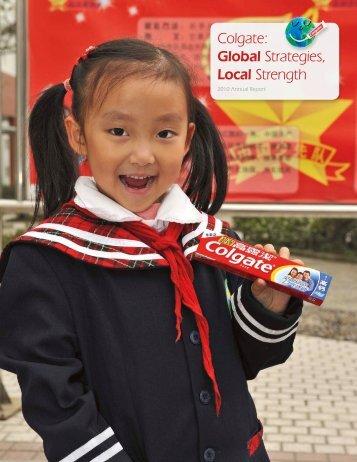 Colgate: Global Strategies, Local Strength