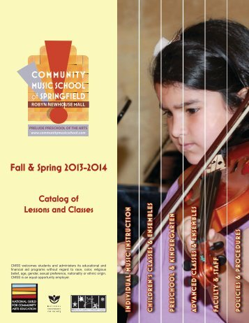 Fall & Spring 2013-2014 - Community Music School of Springfield