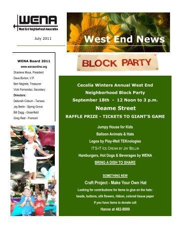 July 2011 - West End Neighborhood Association