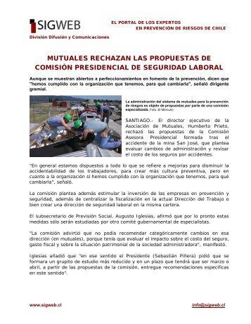mutuales rechazan las propuestas de comisión ... - Sigweb