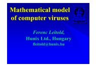 Mathematical model of computer viruses