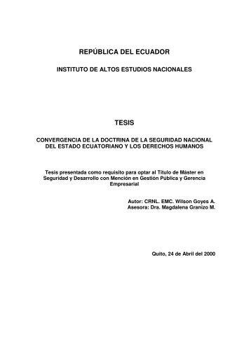 GOYES WILSON 2000.pdf - Repositorio Digital IAEN