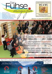 Fuhse-Magazin 1/2015
