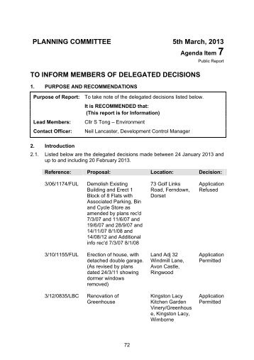 to inform members of delegated decisions