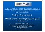 Thailand Country Report - escap