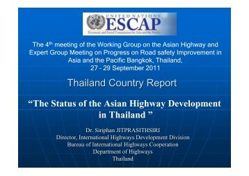 Thailand Country Report - escap
