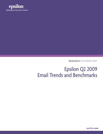 Epsilon Q2 2009 Email Trends and Benchmarks