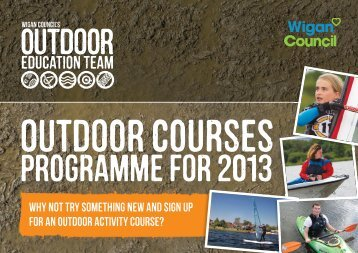 Outdoor education courses booklet