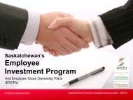Employee Share Ownership Plans (ESOPs) - SEDA - Saskatchewan ...
