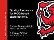 Exploring quality assurance for MCQ examinations