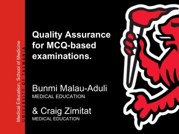 Exploring quality assurance for MCQ examinations