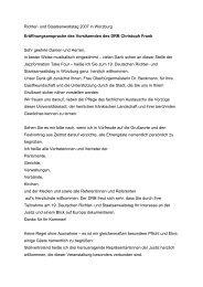 Richter- und Staatsanwaltstag 2007 in Würzburg - Deutscher ...
