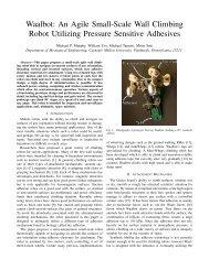 Waalbot: An Agile Small-Scale Wall Climbing Robot ... - CiteSeerX