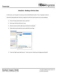 XtraGrid – Binding a Grid to Data - DevExpress