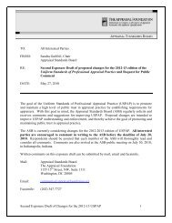 Second Exposure Draft of Changes for the 2012-13 USPAP 1 TO: All ...