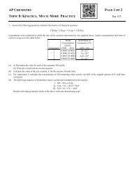 problems - Avon Chemistry