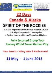 22 Days Canada & Alaska