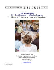 to Download the 2012 Art Ed Handbook. - New Hampshire Institute ...