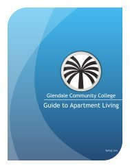 Guide to Apartment Living - Glendale Community College