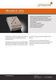 Phocos CML Series (5 – 20 A) - Going Solar