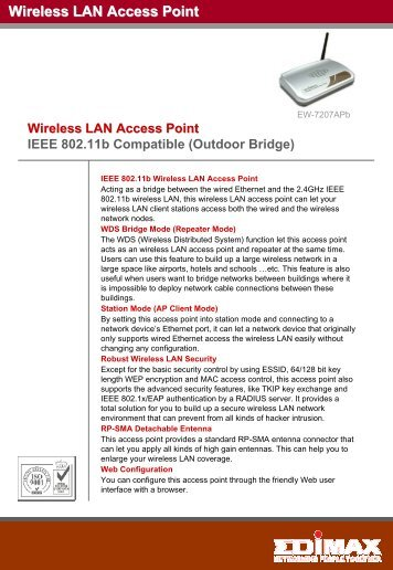 Edimax EW-7104PC WLAN Drivers for Windows Mac