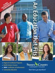 SCCC Course Guide F13 - Sussex County Community College