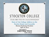 State of College Address Slides - Richard Stockton College of New ...