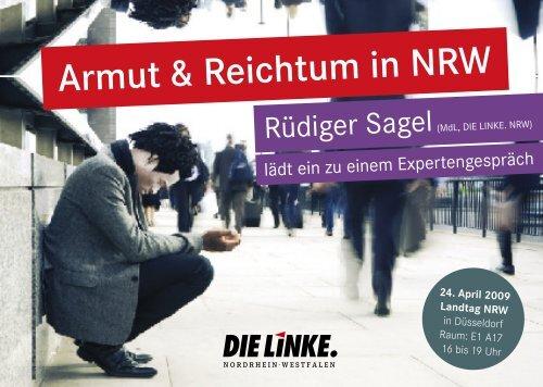 Armut & Reichtum in NRW - Sagel, Rüdiger (Die Linke)