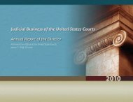 2010 Annual Director's Report - Judicial Discipline Reform