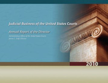 2010 Annual Director's Report - Judicial Discipline Reform